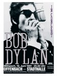 Bob Dylan - Offenbach Germany Concert Poster (1991)