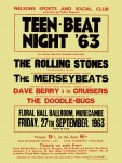 The Rolling Stones - Teen Beat '63 Floral Hall Ballroom Concert Poster (1963)
