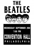 The Beatles - Philadelphia concert poster  (1964)