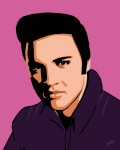 Elvis Presley Fifties Jarod art print