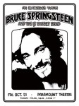 Bruce Springsteen - Paramount Theatre concert poster (1975)