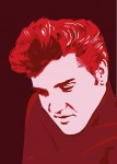 Elvis Presley - Elvis in Red Jarod art print