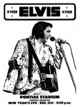 Elvis Presley - Concert Poster Pontiac Michigan 31 december 1975