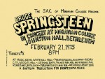 Bruce Springsteen - Born To Run concert poster (1975)