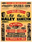 Fifties - Bill Haley and his Comets, Roy Hamilton, Rock 'n Roll Show Concert Poster (1956)