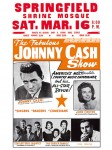 Johnny Cash - June Carter - Statler Brothers - Carl Perkins Concert Poster (circa 1967)