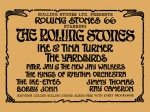 The Rolling Stones - Ike and Tina Turner-Yardbirds ABC Ardwick Concert Handbill (1966)