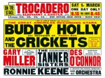 Fifties - Buddy Holly England concert poster (1958)