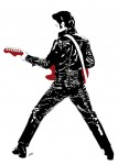 Elvis Presley - Leather Elvis - Jarod art print