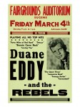 Fifties - Duane Eddy And The Rebels Fairgrounds Auditorium Concert Poster (1960)