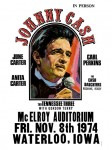 Johnny Cash - McElroy Auditorium Concert Poster (1974)