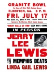 Fifties - Jerry Lee Lewis Granite Bowl Concert Poster (1959)