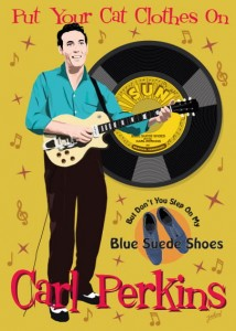 Fifties Style poster: Carl Perkins