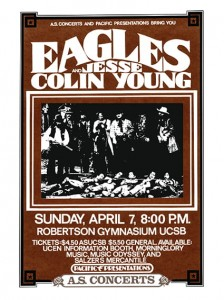 Seventies - The Eagles at Santa Barbara Concert Poster (1974)