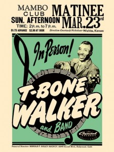 Blues - T-Bone Walker - Mambo Club Concert Poster (1952)