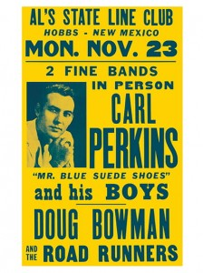 Fifties - Carl Perkins Al's State Line Club Concert Poster (1959)