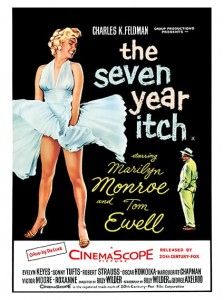 Cult Films - The Seven Year Itch film poster (1955)