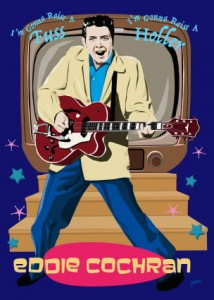 Fifties Style poster: Eddie Cochran