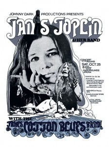 Sixties - Janis Joplin and her Band - Concert Poster (1969)