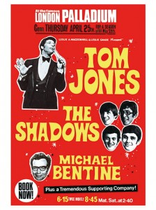 Sixties - Tom Jones, The Shadows, Michael Bentine at the London Palladium (1967)