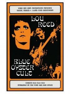 Seventies - Lou Reed at the Ford Auditorium Concert Poster (1973)