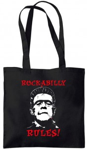 Rock and Roll - Rockabilly Rules! Cool Frankenstein draagtas