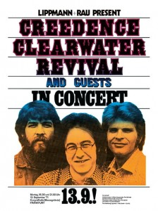 Seventies - Creedence Clearwater Revival Frankfurt Germany Concert Poster (1971)