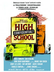 Fifties - High School Confidential film Poster (1958)