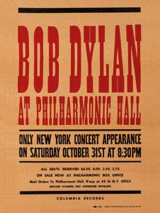 Bob Dylan at Philharmonic Hall Concert Poster (1964)
