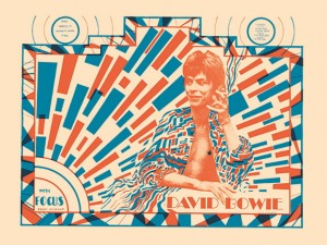 Seventies - David Bowie-Ziggy Stardust University Union Concert Poster (1972). Extremely Rare