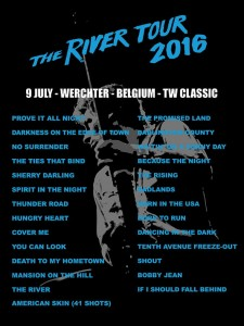 Bruce Springsteen - Werchter 2016 River Tour poster