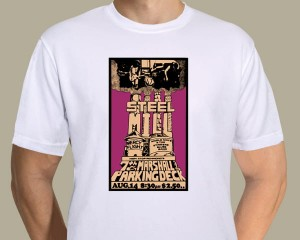 Bruce Springsteen - Steel Mill poster T-shirt