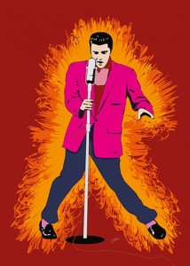 Elvis Presley - Hot Elvis - Jarod art print