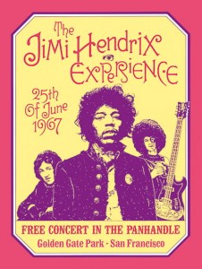 Sixties - The Jimi Hendrix Experience at Golden Gate Park (1967)