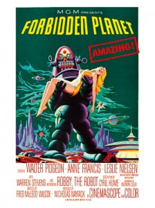 Cult Films - Forbidden Planet film poster (1956)