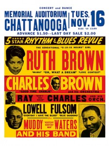 Blues - Rhythm and Blues Revue - Memorial Auditorium Concert Poster (1954)