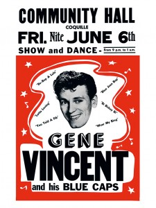 Fifties - Community Hall-poster - Gene Vincent en zijn Blue Caps (1958)