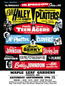 Fifties - Maple Leaf Gardens concert poster (1956)