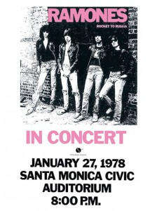 Seventies - The Ramones -  Rocket to Russia Concert Poster (1978)
