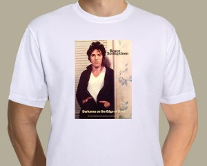 Bruce Springsteen - Darkness On The Edge Of Town promotional poster T-shirt