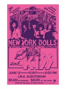Seventies - New York Dolls and KISS Concert Poster (1974)