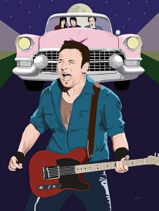 Bruce Springsteen - Light Of Day Art Print