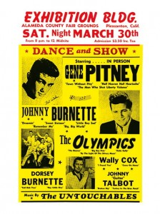Sixties - Gene Pitney - Johnny Burnette - Dorsey Burnette Exhibition Building Concert Poster (1963)