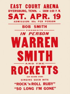 Fifties - Warren Smith And The Rocketts East Court Arena Concert Poster (1958)