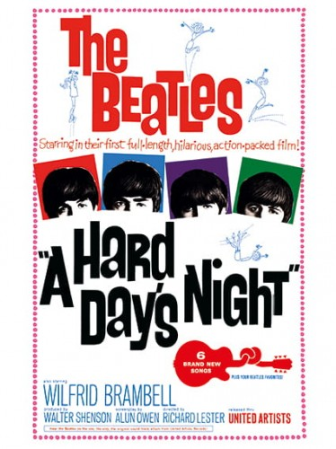 "A Hard Day's Night (United Artists, 1964). One Sheet (27"" X 41"").jpg"